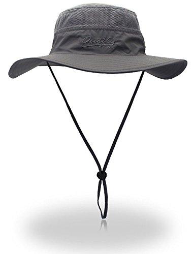 YOYEAH Windproof Fishing Hats UPF 50+ Wide Brim Sun Protection Hat Outdoor Mesh Fishing Hat 56-61cm