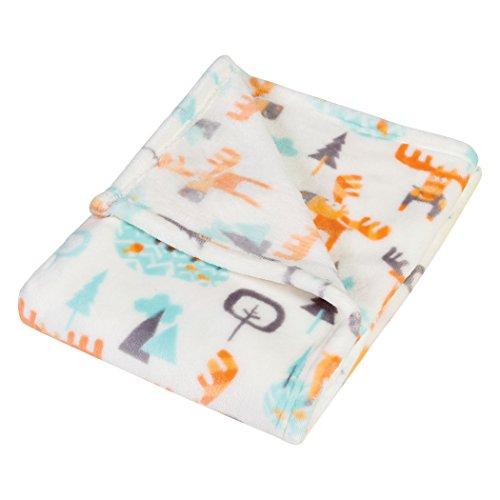 Trend Lab Plush Baby Blanket, Orange Woodland (Woodland Moose)