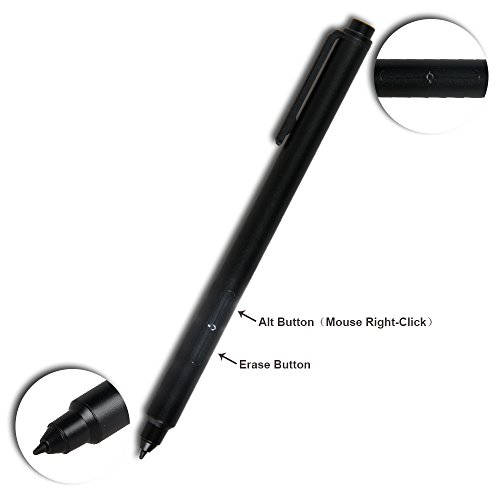 Pen for Surface Pro 4 and Surface Pro 3,1024 Levels of Pressure for High-Fidelity writing, Drawing or Painting (Black) (Erase Surface Surface Type)