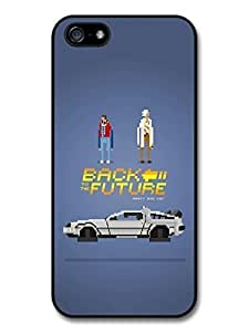 AMAF ? Accessories Back to the Future Game Illustration Marty and Doc with Delorian case for iPhone 5 5S