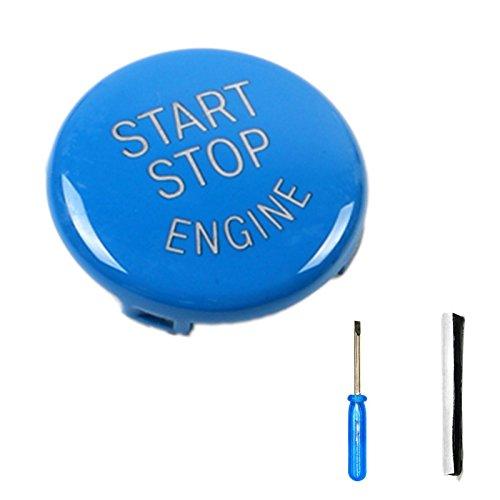 Arotom Blue Car Engine Start Stop Switch Button Replace Cover For E Chassis BMW E60 E70 E71 E90 E92 (E Chassis ()