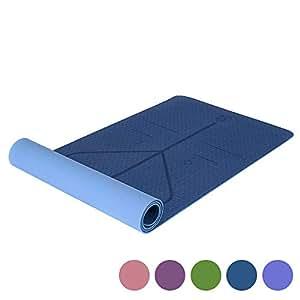Amazon.com: CSWOLI - Alfombrilla de yoga de 0.236 in TPE ...