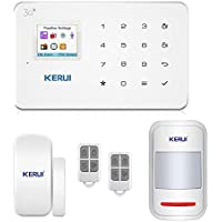 GSM 3G Alarm System Kit - KERUI G183 Wireless WCDMA DIY Home and Business Security System Auto Dial- Easy to Install Security Alarm System, APP Control and Remote Controller