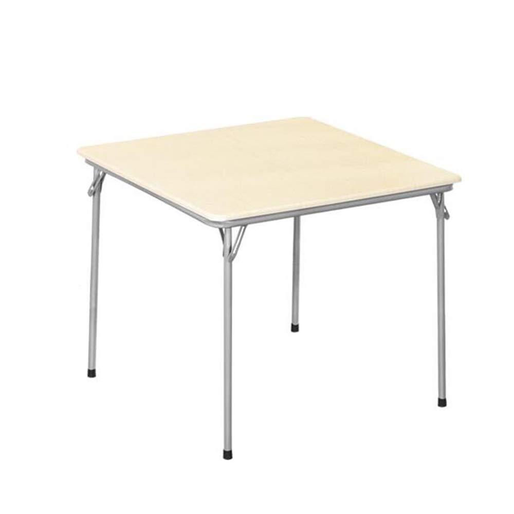 CAICOLOUR テーブル ポータブルダイニングテーブル麻雀テーブルカジュアルチェステーブルスクエアテーブル折りたたみ式スチール脚多機能2色85×85×71センチ 多目的 (色 : ウッド うっど) B07Q2QPHQC ウッド うっど