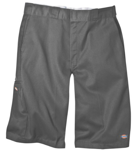 Dickies Men's 13 Inch Loose Fit Multi-Pocket Work Short, Charcoal, 40