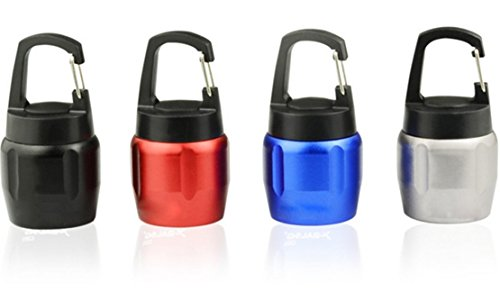 【4 Pack】Elecrainbow E02 Mini COB Keychain Flashlight, 150 Lumens Mini Aluminium Alloy Pocket Portable Emergency Light, Black, Blue, Red, Silver
