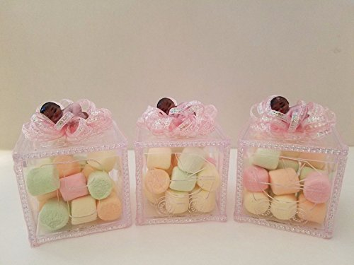 12 Baby Shower Fillable Blocks Favors Prizes Girl African American Decorations by Product789