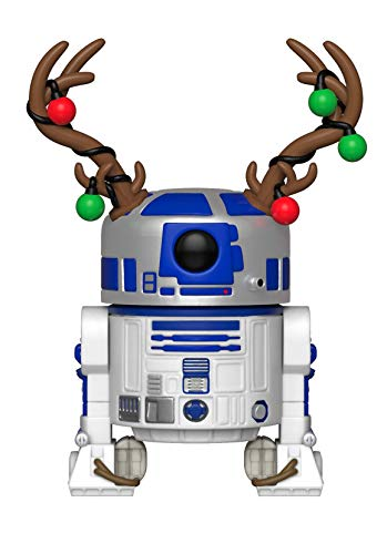 Funko Pop Star Wars: Holiday - R2D2 with Antlers Collectible Figure, Multicolor