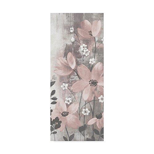 Blush Art - Trademark Fine Art Floral Symphony Blush Gray Crop I by Silvia Vassileva, 14x32, Multicolor