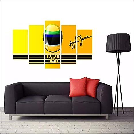 cad44139c Quadro Decorativo Ayrton Senna Card Vermelho 114x65  Amazon.com.br  Casa
