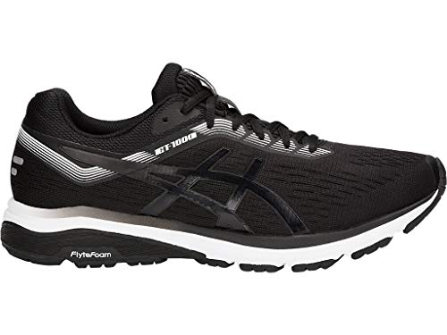 ASICS Men's GT-1000 7 Running Shoes, 9.5M, Black/White (White Mens Asics Shoes Running)
