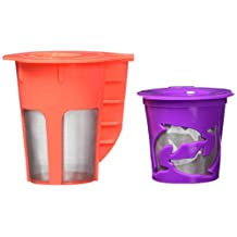 R'stoyours, K-Carafe & K Cup Reusable and Refillable Coffee Filter Set, Carafe Brews 4-5 Cups of Coffee for the Keurig 2.0, K Cups Compatible with 1.0 & 2.0 , K200, K300, K400, K500 Series Machines