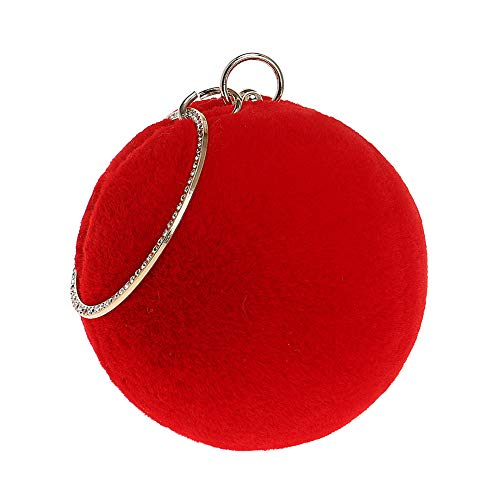 Bags Womens Clutch Red Wedding Chain For Handbag Dress Suede Evening Party Purse wTgqf7wd