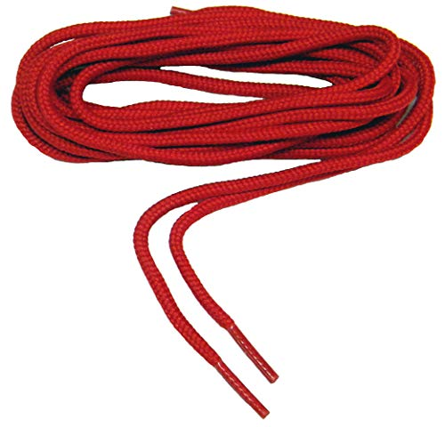 (Fire Engine Red proBOOT(tm) Rugged Wear Heavy Duty Boot Laces Shoelaces - 2 Pair Pack (108 Inch 274 cm, Red))