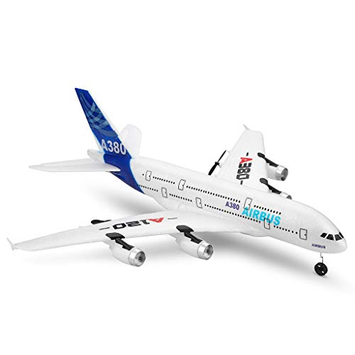 A120-A380 RC Airplane RTF,3 Channel Remote Control Airplane RC Plane Drone with 2.4GHz Control Flying Aircraft for Indoors/Outdoors Flight Toys,Built in 6 Axis Gyro System [Ship from US]