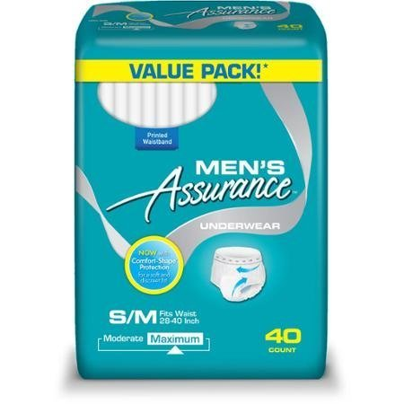Assurance for Men Maximum Absorbency Protective Underwear Small/Medium 40 count WLM
