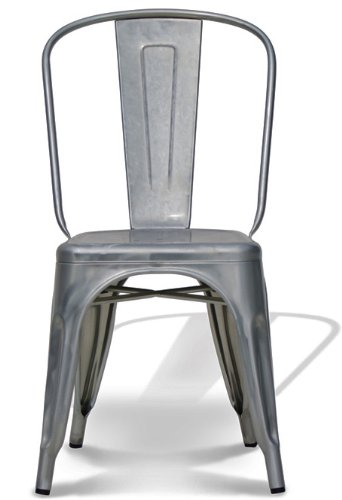 Amazon.com   Stella Metal Cafe Side Chair In Brushed Galvanized Finish    Chairs