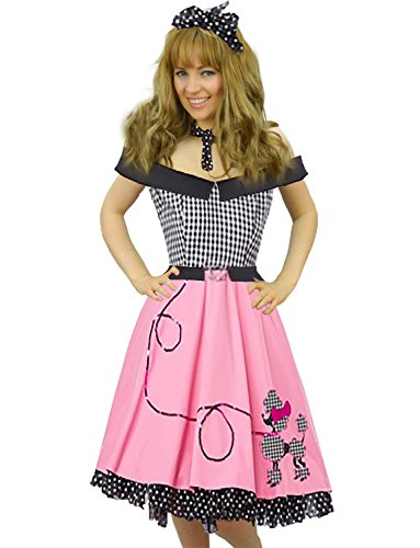 Yummy Bee Womens 1950s Costume Rock Roll Vintage Dress Scarf Size -
