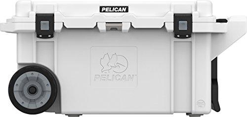 Pelican 80 Quart Wheeled Elite Cooler - Marine White (Green Tie Pelican)