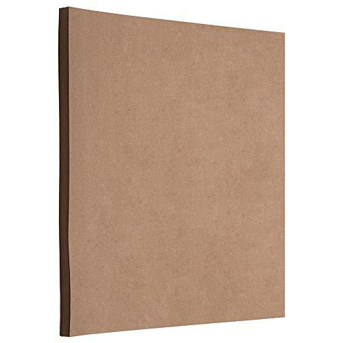 60 Matte - JAM PAPER Matte 60lb Cardstock - 8.5 x 11 Letter Coverstock - Brown Kraft PaperBag - 50 Sheets/Pack
