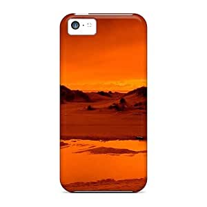 EMTKdiG5303yADMS Tpu Case Skin Protector For Iphone 5c Hazy Red Desert With Nice Appearance