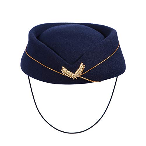 BESTOYARD Women Air Hostess Hat Stewardess Hat Stewardess
