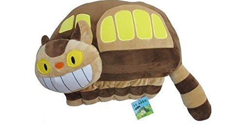 Cat Bus Totoro Costume (Totoro Catbus Soft Plush Pillow with Tails 22