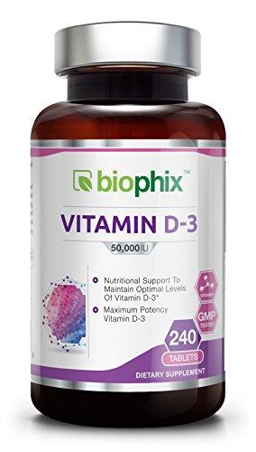Vitamin D3 50000 IU 240 Tabs – High-Potency   Strong Bones   Immune Health   Support for K-2