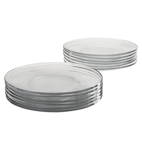 Anchor Hocking 8-Inch Presence Glass Salad Plate, Set of 12 - Glass Plate Set