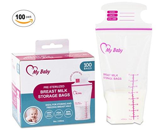 8 Ounce Breast Milk Storage Bags Breastfeeding Freezer Storage