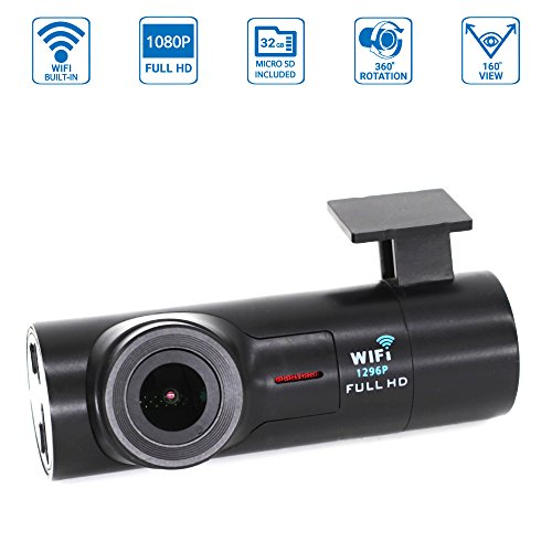 NuCam AW 1080P/60fps Full HD WiFi Dash Camera w...