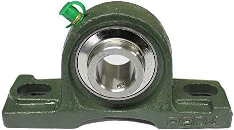 UCP204 Lagerbock mit Einsatz aus Edelstahl rostfrei (NIRO/INOX) Stehlager 20 mm Welle Gehäuselager 2 Loch Stehlager UCP 204