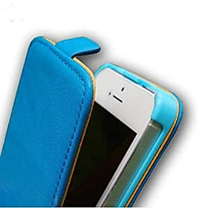 Luxury Leather Case Flip Up and Down Design for iPhone 5/5S (Assorted Colors) , Navy