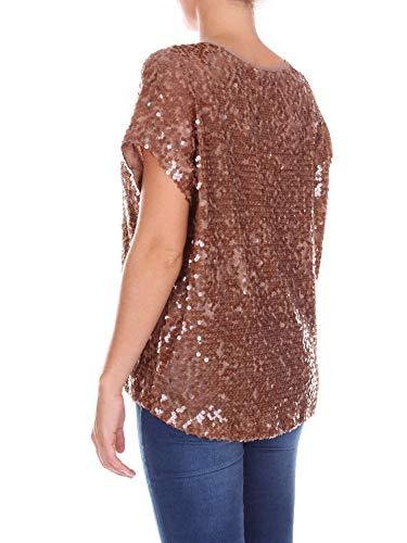 Laugh Love Live Lentejuelas T Mujer Marrón 012234160114brown shirt qA1x15f