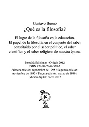 Qué es la filosofía? eBook: Bueno, Gustavo: Amazon.es: Tienda Kindle