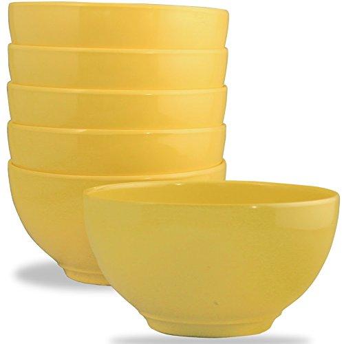 Calypso Basics by Reston Lloyd Melamine Bowl, Set of 6, Lemon -