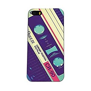 WEV Retro Tape Card Pattern PC Hard Case for iPhone 5C