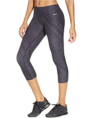 Calvin Klein Performance Printed Cropped Leggings Black Combo