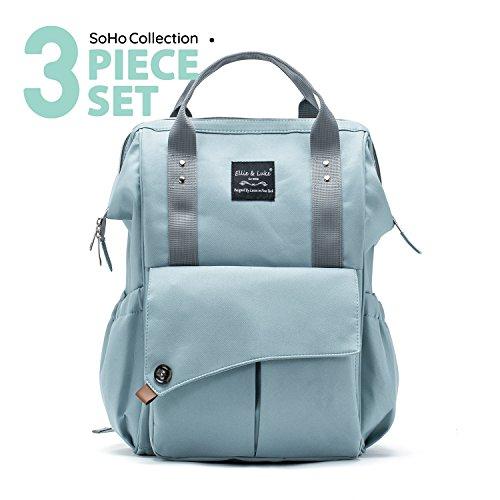 SoHo diaper bag backpack Nolita 3 pieces set nappy tote bag