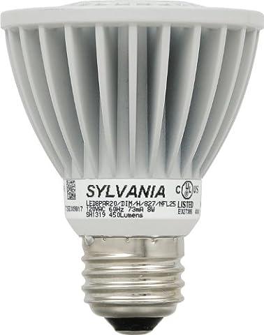 SYLVANIA Ultra LED PAR20 Lamp / Dimmable LED Light Bulb direct replacement for 50W Halogen narrow lights / Medium base E26 / 8 Watt / 2700K – soft (Sylvania 2700k Led)