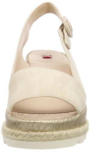 HÖGL 5 10 3242 Flatform Cotton Sandals Women's Beige 7Frq6Wa74