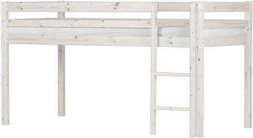 FLEXA BASIC 80-06301-2 - Cama infantil (barnizada, con escalera ...