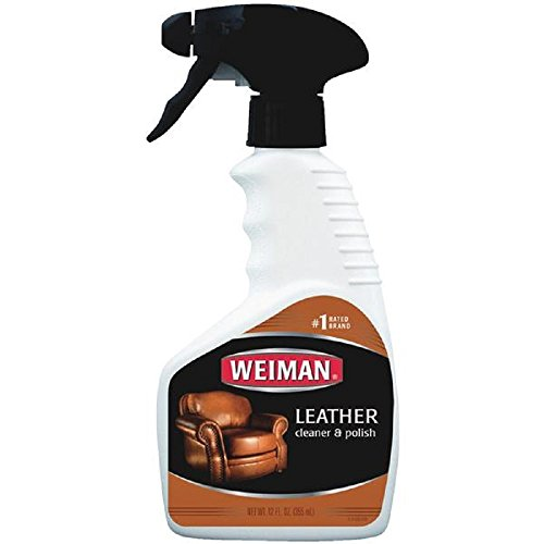 Weiman Leather Cleaner and Conditioner UV Protection Help Prevent Cracking or Fading For Leather Couch Car Seat Shoe Purse - 12 Ounces