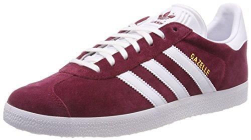 White Men Adidas Gazelle Shoes Collegiate Red Burgundy Footwear Footwear White qzRzwd
