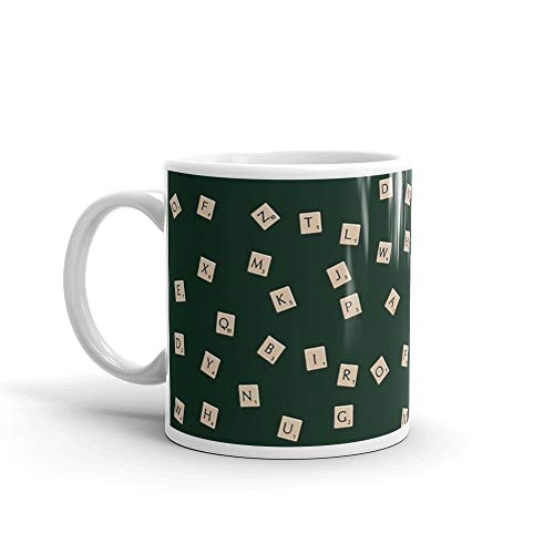 Scrabble. 11 Oz Ceramic Coffee Mug Also Makes A Great Tea Cup With Its Large, Easy to Grip C-handle. 11 Oz Fine Ceramic Mug With Flawless Glaze Finish ()