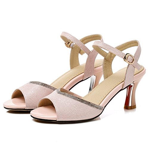 Pink Sandales JOJONUNU Ete Peep Toe Femmes RwXzTq8
