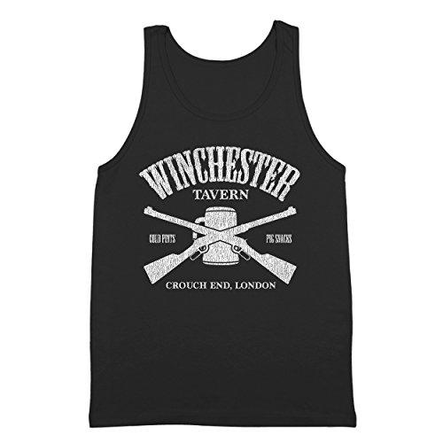 Winchester Tavern Shaun of The Dead Pub Zombie Mens Tank Top Medium Black