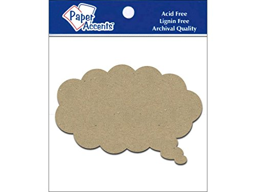 Accent Design Paper Accents Chip Shape 8pc Thought Bubble - Chipboard Bubble