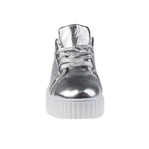 Fashion4Young , Sneakers Basses femme 5006-3-silber