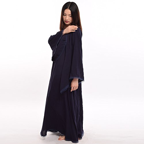 BLESSUME Mdival Robe Bleu Manche Longue Fantaisie Robe Fte Cosplay Femmes Encapuchonn clater Lacer Pqx7dqwr